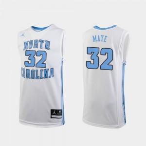 Kids Replica College Basketball #32 White Luke Maye UNC Jersey 915347-924