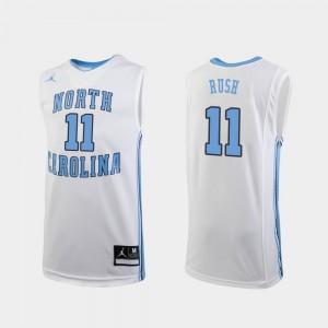 College Basketball #11 White Replica Shea Rush UNC Jersey Youth 805163-328
