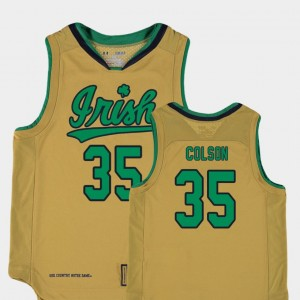 Youth College Basketball Special Games #35 Bonzie Colson Notre Dame Jersey Gold Replica 259115-780