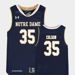 Replica Youth Navy #35 College Basketball Bonzie Colson Notre Dame Jersey 175796-385