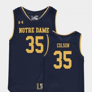 Youth(Kids) #35 Replica Navy College Basketball Special Games Bonzie Colson Notre Dame Jersey 308445-157