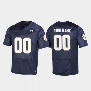 Youth(Kids) Replica Navy Football Notre Dame Customized Jersey #00 141396-475