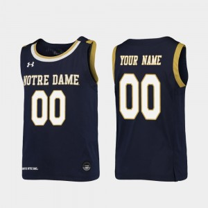 Notre Dame Customized Jerseys #00 Youth(Kids) Replica College Basketball Navy 119643-609