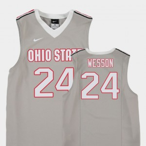 Youth(Kids) College Basketball Gray Andre Wesson OSU Jersey #24 Replica 451365-343