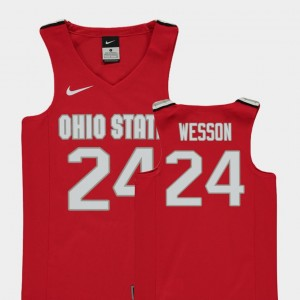 College Basketball Andre Wesson OSU Jersey Youth #24 Red Replica 606027-365