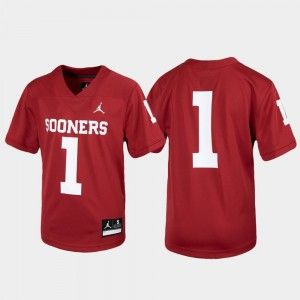 Youth Untouchable Football Crimson #1 OU Jersey 243845-334