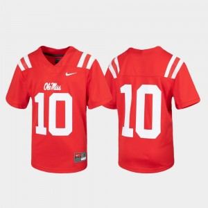 Red #10 Untouchable Football Ole Miss Jersey For Kids 422567-948