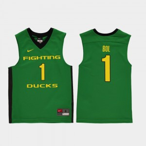 College Basketball #1 Replica Green Youth Bol Bol Oregon Jersey 732949-771