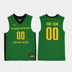 Replica Oregon Customized Jersey College Basketball Youth #00 Green 952653-959