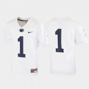 Untouchable #1 White Football Youth(Kids) Penn State Jersey 522943-256