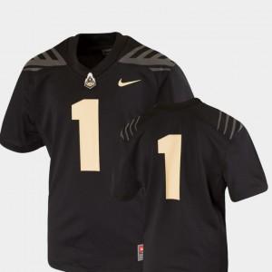 Black Team Replica Youth(Kids) College Football #1 Purdue Jersey 228396-821