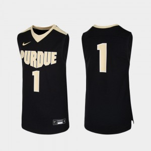 Black Replica Purdue Jersey #1 Youth College Basketball 737767-288