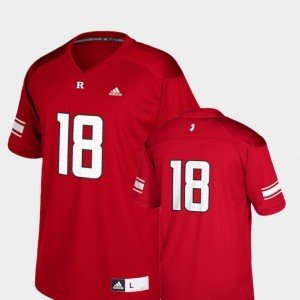College Football Replica Youth Rutgers Jersey #18 Scarlet 514346-741
