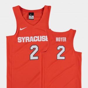 Orange Matthew Moyer Syracuse Jersey Replica #2 College Basketball Youth(Kids) 239154-143