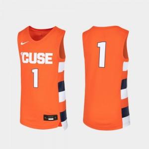 Orange Syracuse Jersey #1 Youth Basketball Replica 438308-405
