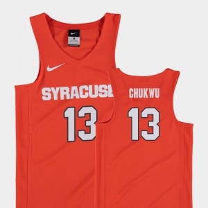 Orange #13 For Kids Replica College Basketball Paschal Chukwu Syracuse Jersey 778071-174