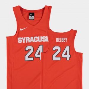 Shaun Belbey Syracuse Jersey College Basketball Orange #24 Youth Replica 980843-285