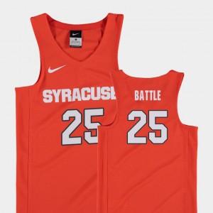 Replica #25 Kids Orange College Basketball Tyus Battle Syracuse Jersey 548425-138