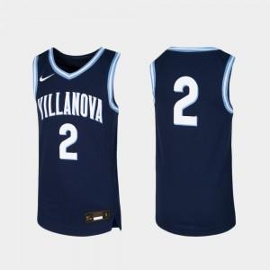 Basketball #2 Villanova Jersey For Kids Replica Navy 133259-837