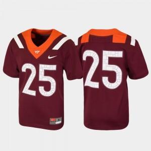 #25 Virginia Tech Jersey For Kids Untouchable Maroon Football 149094-729