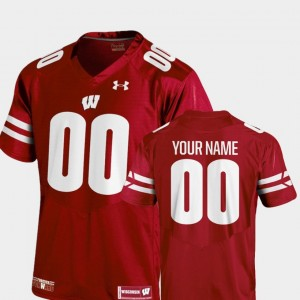 Red Wisconsin Customized Jerseys College Football Youth #00 2018 Replica 569790-556