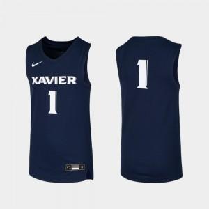 Navy Basketball Kids #1 Replica Xavier Jersey 577234-467